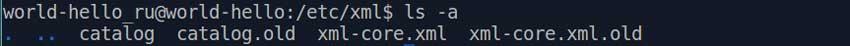 Пример вызова команды ls с ключом -a