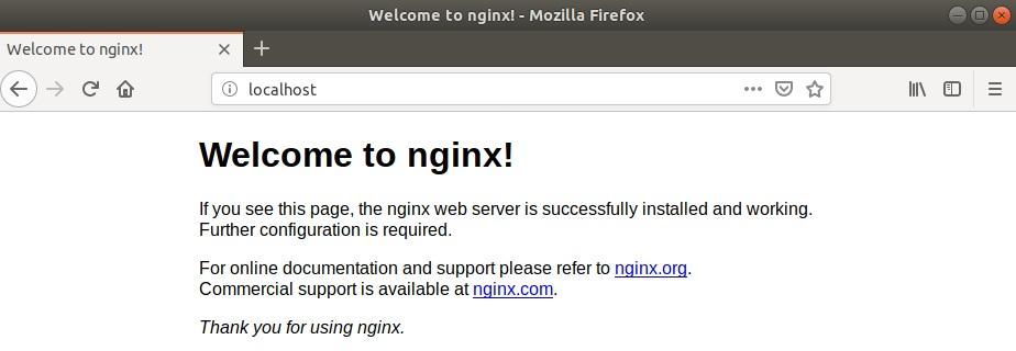 фрагмент страницы по умолчанию работающего сервера NGINX.