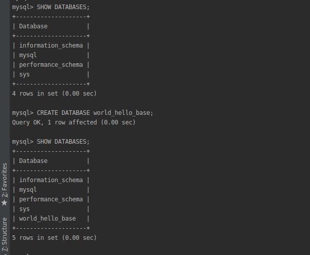 Пример создания базы данных с помощью SQL синтаксиса CREATE.